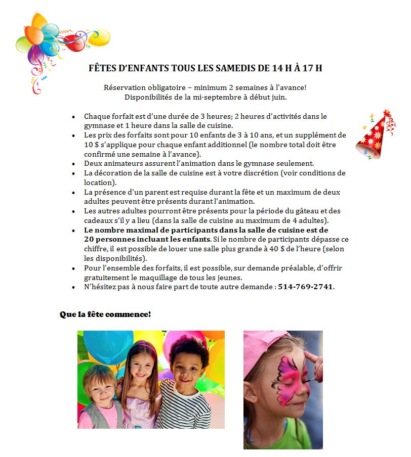 Forfait Fête d'enfant 2018-1